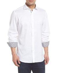 Bugatchi - Classic Fit Tonal Circles Sport Shirt - Lyst