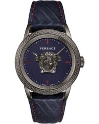 Versace - Palazzo Empire Leather Strap Watch - Lyst