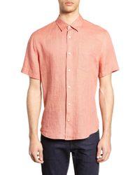 Vince - Short Sleeve Slim Fit Linen Sport Shirt - Lyst