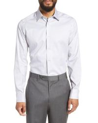 David Donahue - Slim Fit Dot Dress Shirt - Lyst