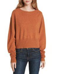Autumn Cashmere - Scrunch Sleeve Cashmere Sweater - Lyst