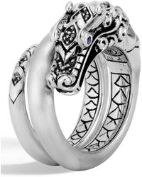 John Hardy - Legends Naga Brushed Coil Ring - Lyst