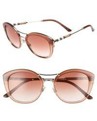 76904cda27bd Lyst - Burberry Be4156 331613 Havana Cat Eye Sunglasses Brown ...