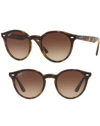 Ray-Ban - Blaze 37mm Round Sunglasses - Light Havana Gradient - Lyst