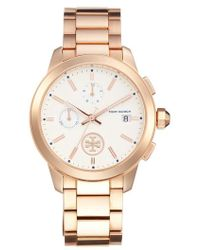 Tory Burch - Collins Chronograph Bracelet Watch - Lyst