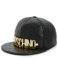 Moschino - Quilted Leather Baseball Cap - - Lyst