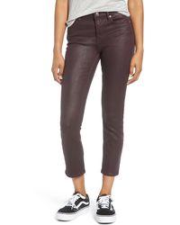 Vigoss Stevie Coated Crop Straight Leg Jeans - Multicolour