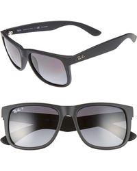 2e584ec1cb Lyst - Ray-Ban Justin Polarized Sunglasses in Black for Men