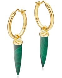 Missoma - Mini Dagger Hoop Earrings - Lyst