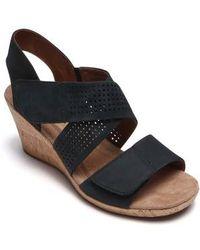 Cobb Hill - Janna Cross Strap Wedge Sandal - Lyst