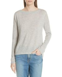 Vince - Cinched Back Cashmere Sweater - Lyst