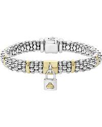 Lagos - Beloved Charm Lock Caviar Rope Bracelet - Lyst