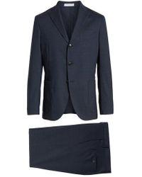 Boglioli - Trim Fit Stretch Solid Wool Suit - Lyst