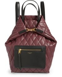 Givenchy - Duo Quilted Faux Leather Backpack - Burgundy - Lyst