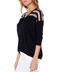 Michael Stars - Sheer Stripe Sweater - Lyst