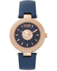 Versus - Versus By Versace Brick Lane Leather Strap Watch - Lyst