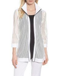 Ming Wang - Ming Mang Open Stitch Sweater Jacket - Lyst