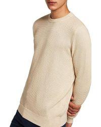 TOPMAN - Thermal Knit Sweater - Lyst