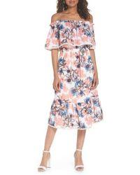 Fraiche By J - Off The Shoulder Tiered Midi Dress - Lyst