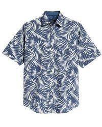 Bugatchi - Indigo Palms Classic Fit Sport Shirt - Lyst