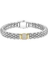 Lagos - Caviar & Diamond Bracelet - Lyst