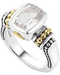 Lagos | 'caviar Color' Small Semiprecious Stone Ring | Lyst