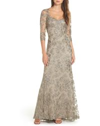 Tadashi Shoji - Corded Embroidered Lace Gown - Lyst