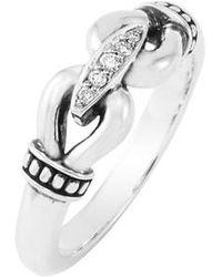 Lagos - 'derby' Small Diamond Ring - Lyst