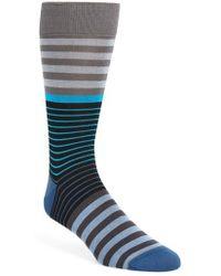 Bugatchi - Stripe Socks - Lyst