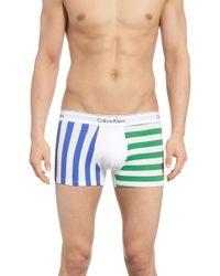 Calvin Klein - Stripe Trunks - Lyst