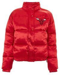 TOPSHOP - X Unk Chicago Bulls Puffer Jacket - Lyst