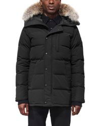 Canada Goose - Carson Fusion Fit Hooded Down Parka With Genuine Coyote Fur Trim - Lyst