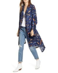 Treasure & Bond - Print Kimono - Lyst
