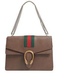 Gucci - Dionysus Web Stripe Leather Shoulder Bag - Lyst