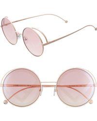 fac1b4560db3 Fendi 49mm Cat Eye Sunglasses - Turquoise/ White in Blue - Lyst