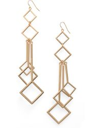 Natasha Couture - Geometric Drop Earrings - Lyst