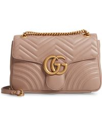 48fd2f3e421b Gucci - GG Marmont 2.0 Medium Quilted Shoulder Bag - Lyst