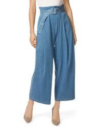J Brand - Via Pleat Front Wide Leg Pants - Lyst