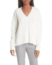 10 Crosby Derek Lam - Lattice Pointelle Sweater - Lyst