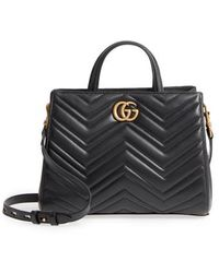 Gucci - Gg Small Marmont 2.0 Matelasse Leather Top Handle Satchel - - Lyst