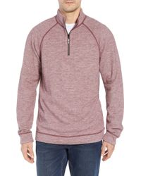 Tommy Bahama - On The Doubles Mock Neck Quarter Zip Pullover - Lyst