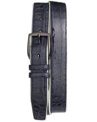 Mezlan - 'saratoga' Genuine Crocodile Leather Belt - Lyst