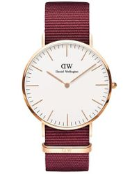 Daniel Wellington - Classic Nylon Strap Watch - Lyst