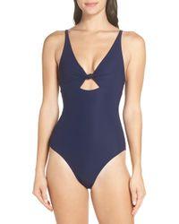 dec2ddf2872 Tory Burch Clemente One Piece Swimsuit - Tory Navy Classic Stripe in Blue -  Lyst