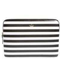 Kate Spade - Stripe 13-inch Laptop Sleeve - Lyst