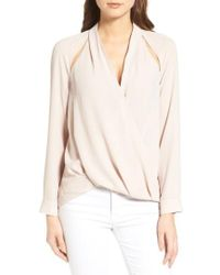Trouvé - Cutout Surplice Top - Lyst