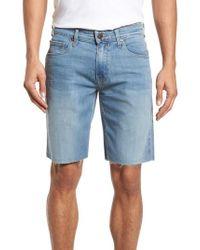 PAIGE - Transcend - Federal Slim Straight Leg Denim Shorts - Lyst