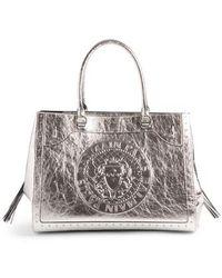 Balmain - Renaissance Metallic Leather Tote - - Lyst