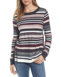 Caslon - Caslon Reverse Stripe Sweater - Lyst