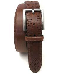 Boconi - Perforated Tab Leather Belt - Lyst